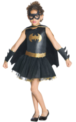 View Item Girls Batgirl Tutu Fancy Dress Costume