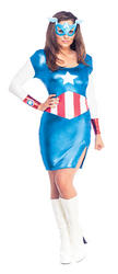 View Item Ladies' Miss Captain America Fancy Dress