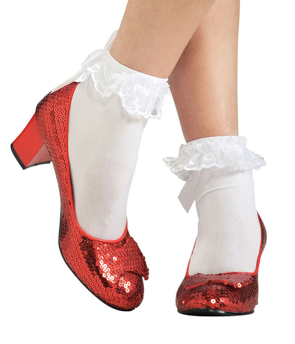 dorothy ruby slippers shoes fancy dress wizard of oz