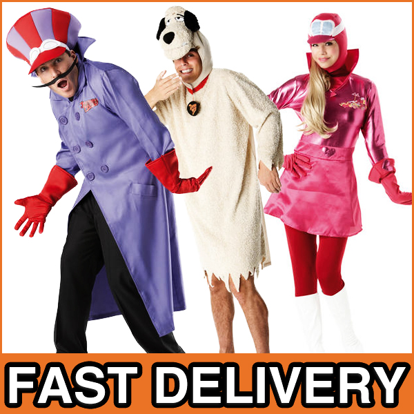 Deluxe-Wacky-Races-Costumes-Mens-Womens-60s-Fancy-Dress-Cartoon-Adult-Costume
