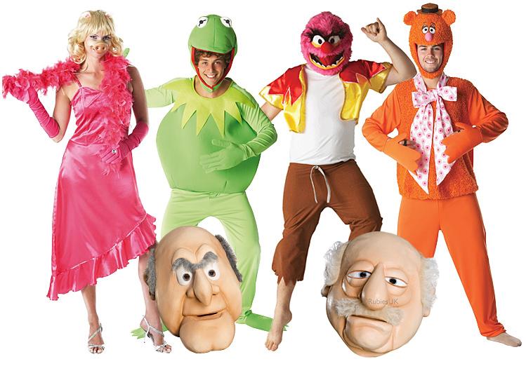 Cartoon Characters 80s Fancy Dress : S muppets adults fancy dress tv character mens