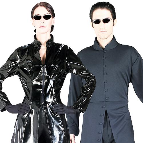 Trinity Or Neo The Matrix Movie Fancy Dress Halloween Mens