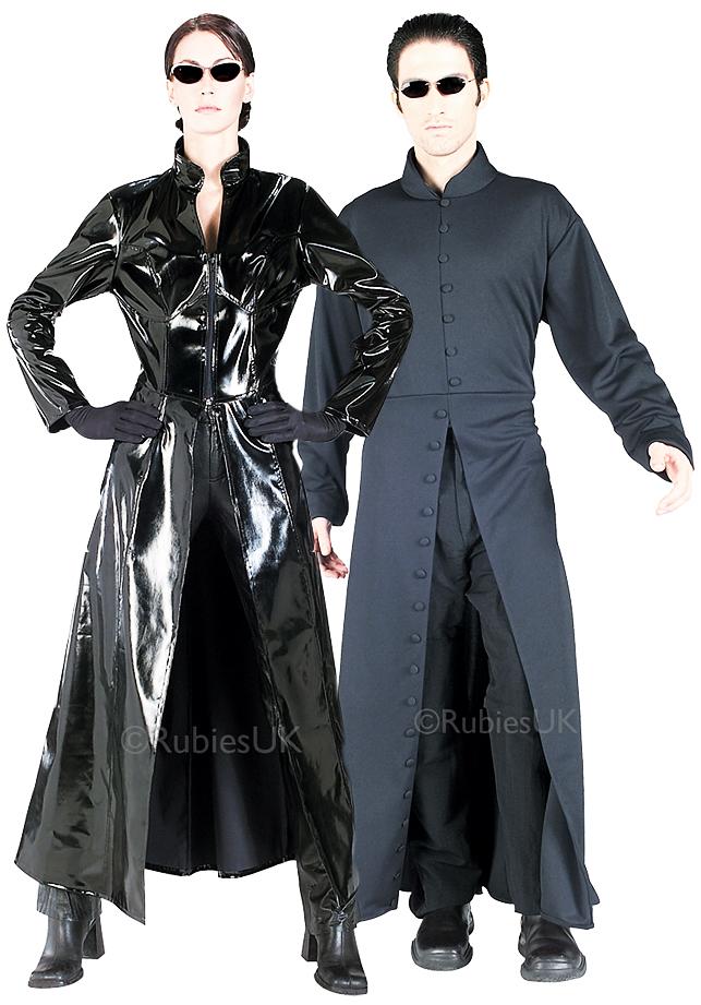 The Matrix Adults Fancy Dress Halloween Trinity Neo Mens ...