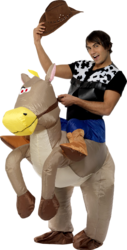 Ride Em Cowboy Inflatable Costume