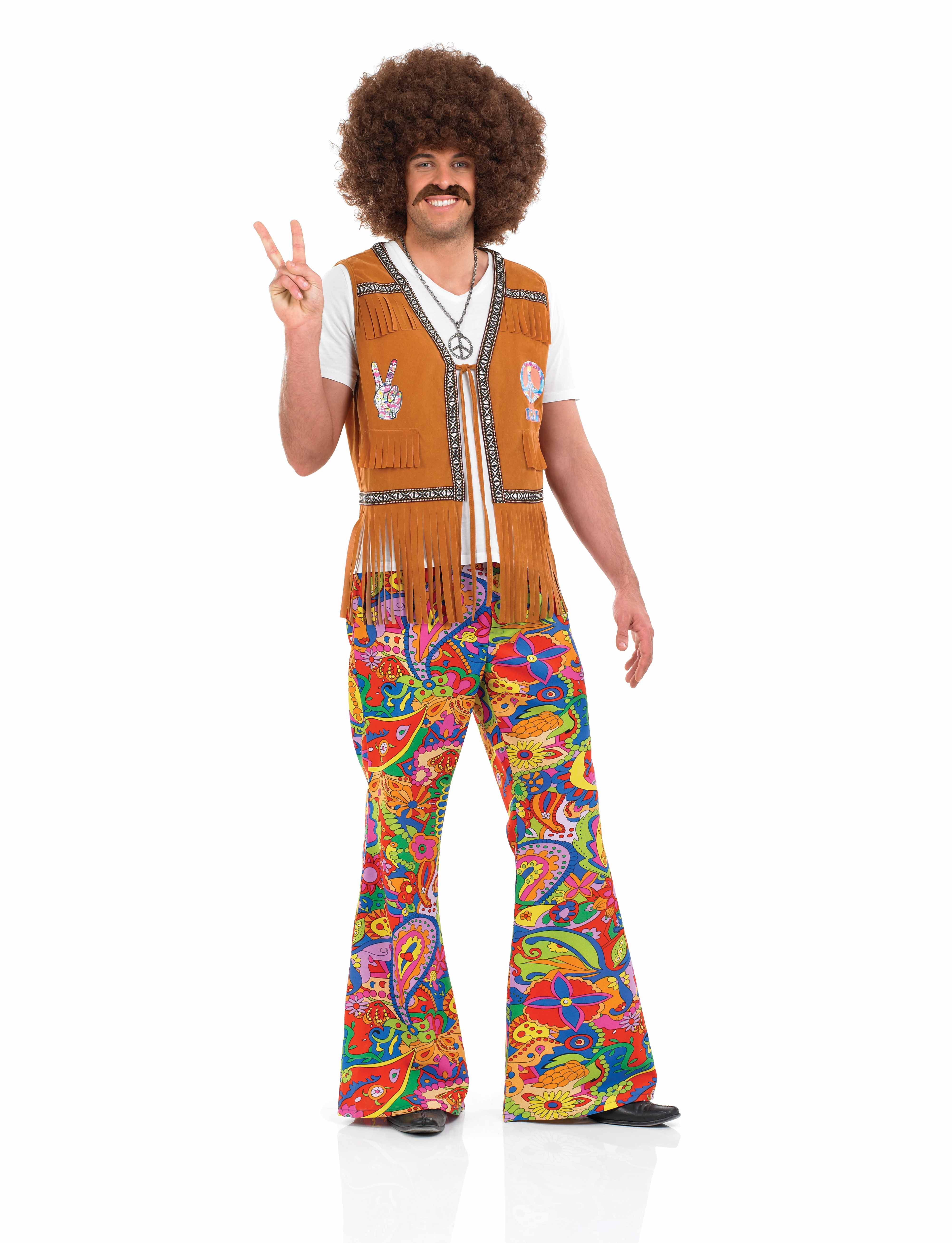 1960s Psychedelic Mens Trousers Fancy Dress 60s Hippy ...