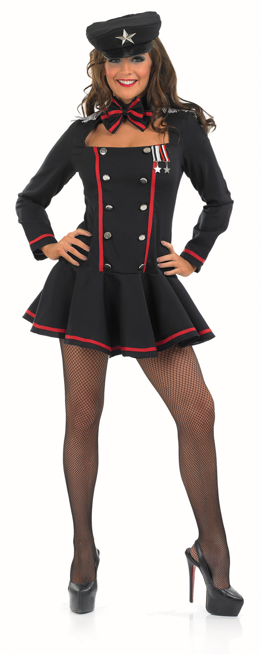 Army Costume Ladies Russian Spy Military James Bond Womens Uniform