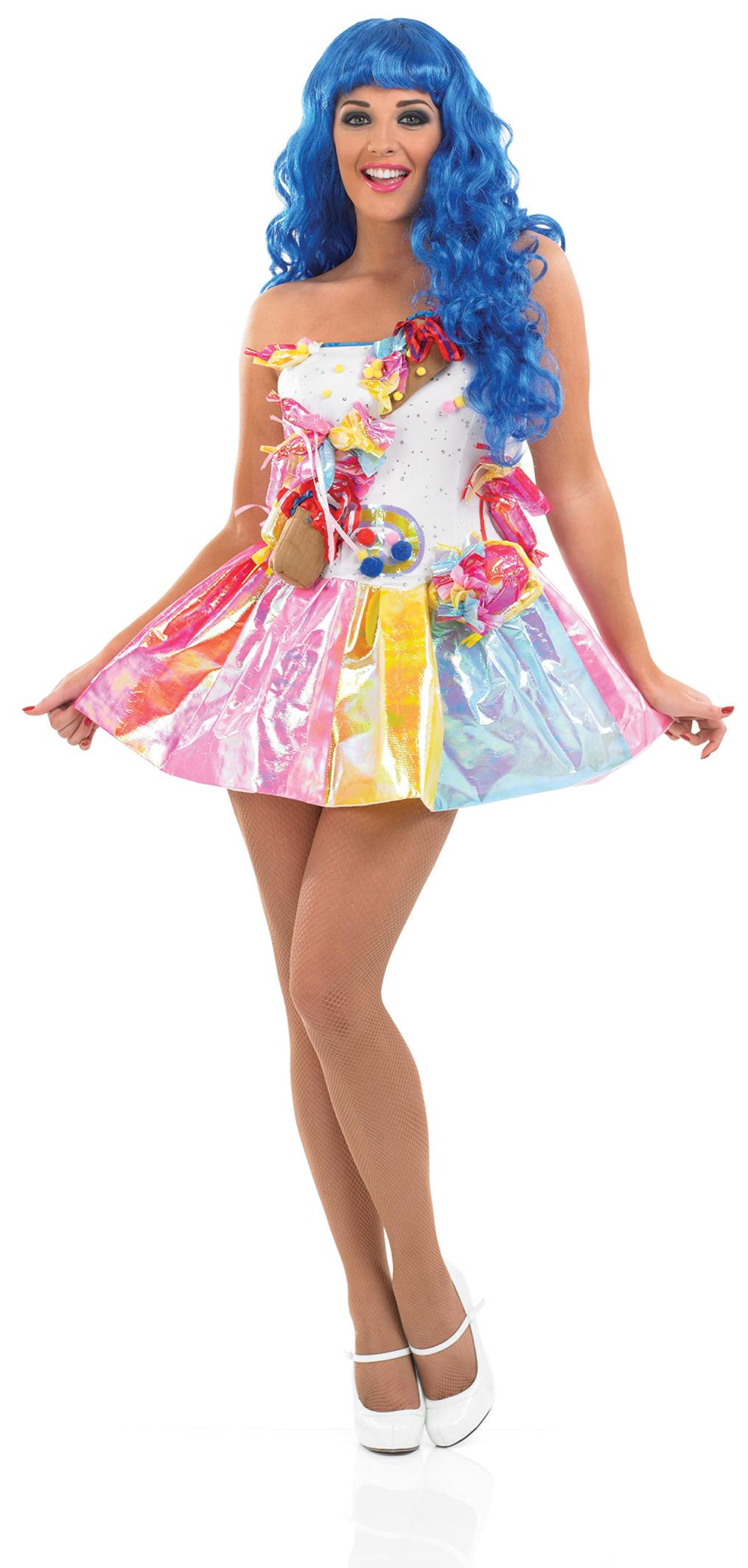 Sweet Pop Star Fancy Dress Celebrity California Gurl Ladies Costume UK ...