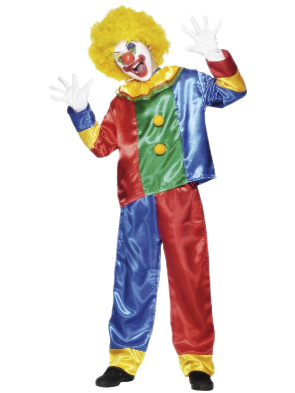 Funny-Clown-Boys-Fancy-Dress-Kids-Childrens-Costume-Outfit-Child-Ages-4-12-Years