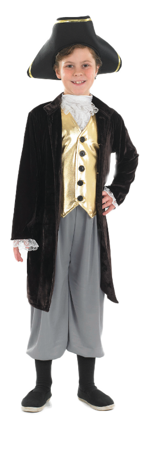 Boys Periodic Colonial Fancy Dress Kids Historical ...