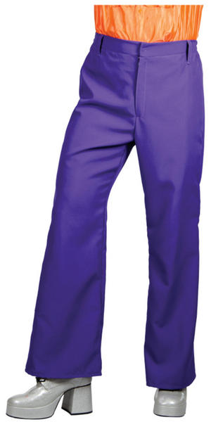 Purple 70s Disco Flares