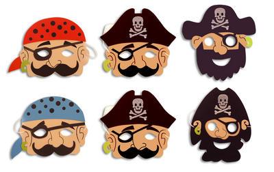 6 Pirate Masks