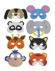 View Item 8 Assorted Animal Masks