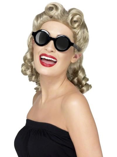 40s Style Circular Sunglasses