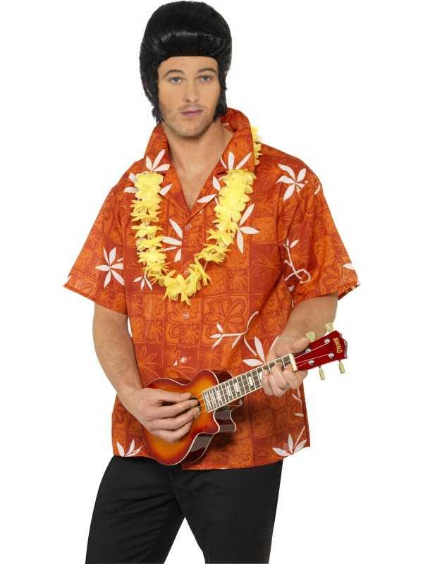 Elvis presley hawaii shirt mens 1960s fancy dress for Hawaiian shirt fancy dress