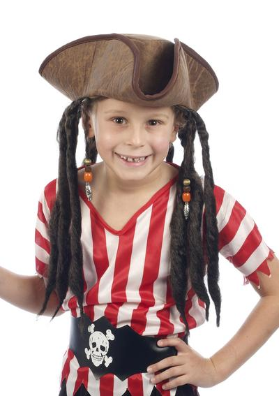 Child's Deluxe Pirate Hat with Hair