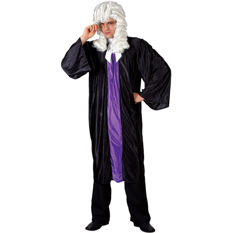 High-Court-Judge-Robe-Wig-Barrister-Mens-Fancy-Dress-Costume-Adult-Outfit-New