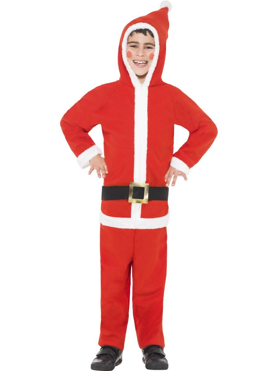 Christmas dress up - Santa Boy S Onesie Kids Father Christmas Childs Fancy Dress Up Childrens Outfit