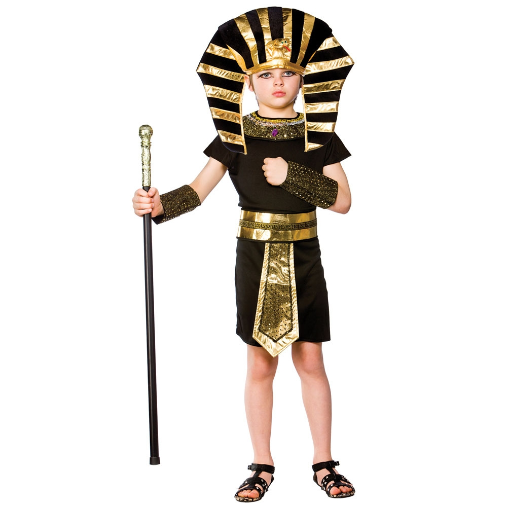 egyptian pharaoh boys fancy dress up historical egypt childs kids costume outfit ebay. Black Bedroom Furniture Sets. Home Design Ideas