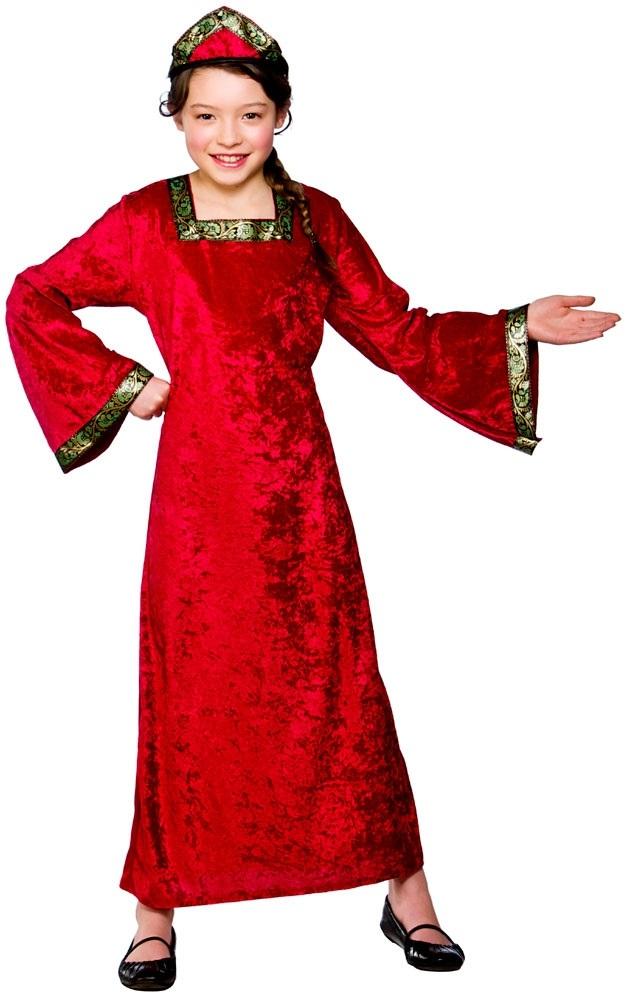 Medieval-Tudor-Princess-Girls-Fancy-Dress-Up-Fairytale-Kids-Child-Costume-Outfit