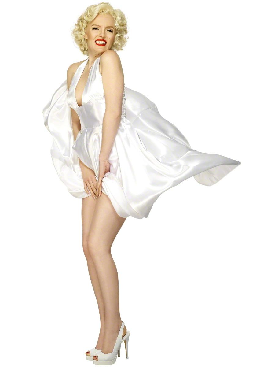 Marilyn Monroe White Dress Hollywood Movie Star Ladies ...