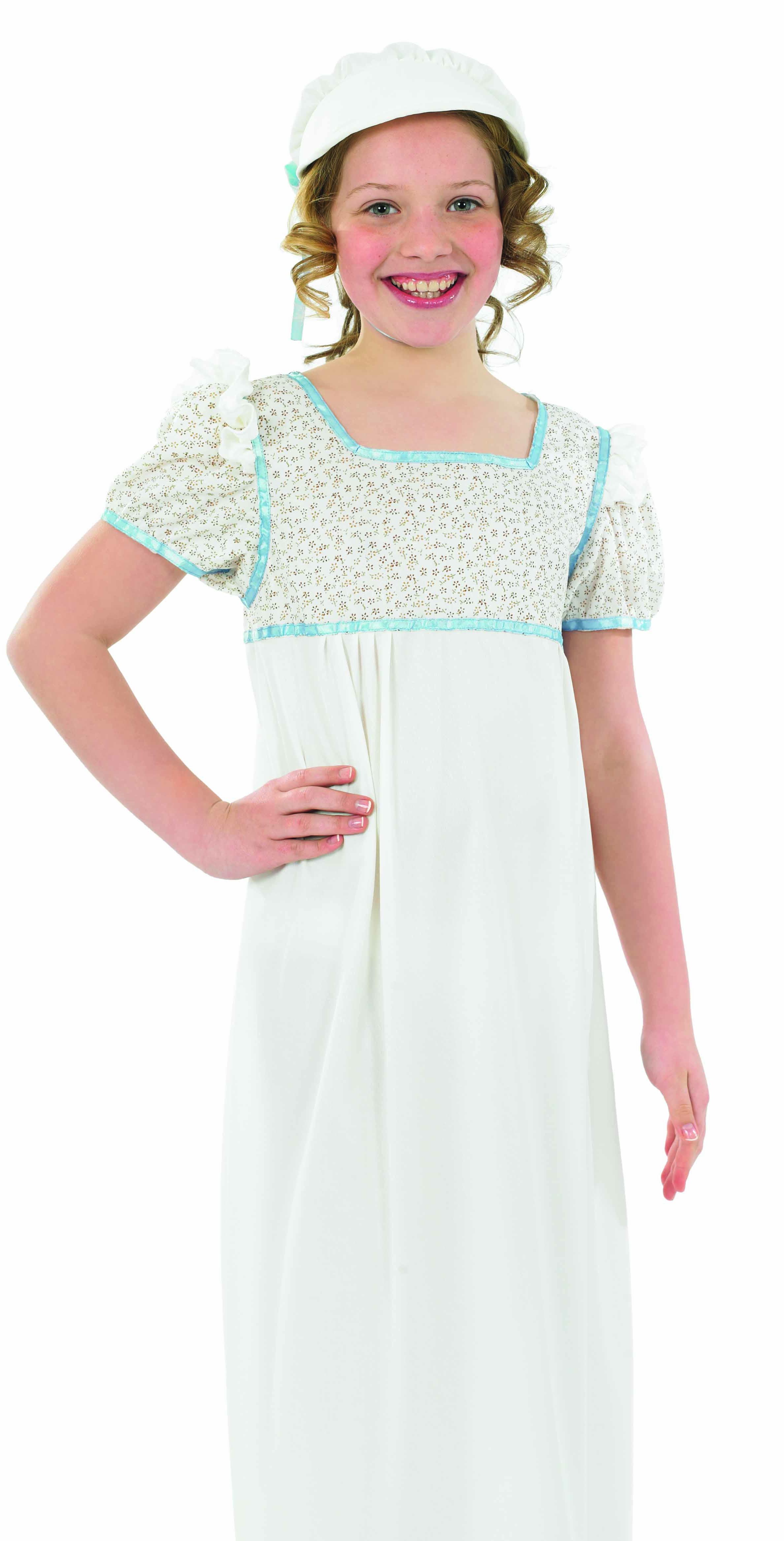 Regency-Girl-Costume-Kids-Victorian-Book-Week-Edwardian-Fancy-Dress-Outfit-New