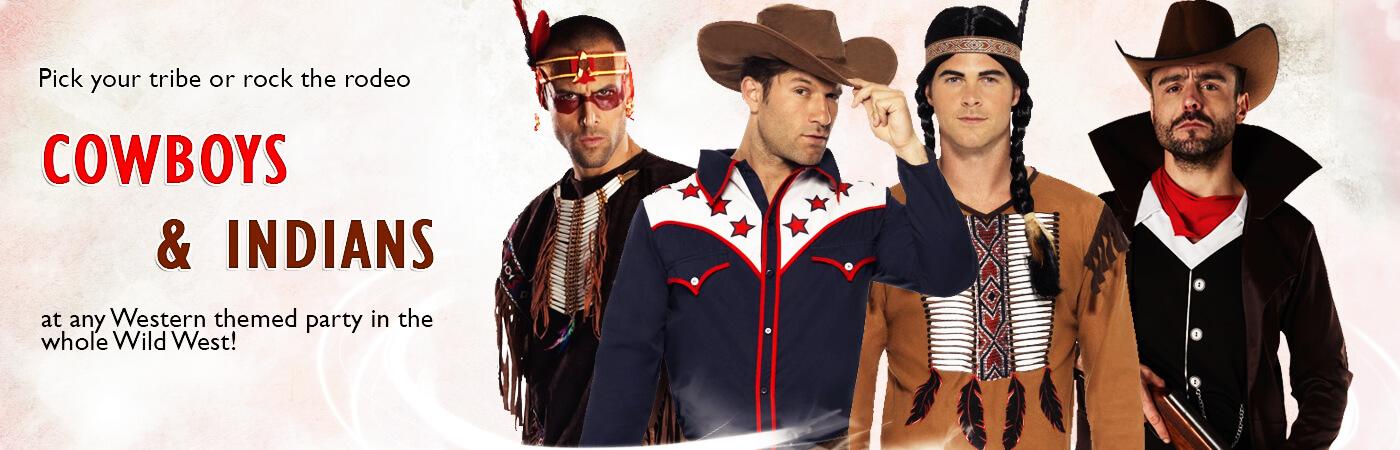 Men S Cowboy Amp Indians Fancy Dress Costumes Mega Fancy Dress