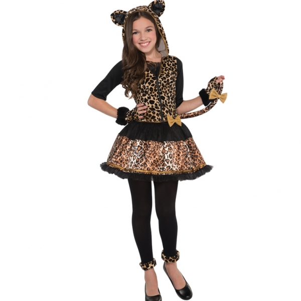 Sassy Leopard Girls Fancy Dress Animal Childs Teen Halloween Costume Outfit  eBay