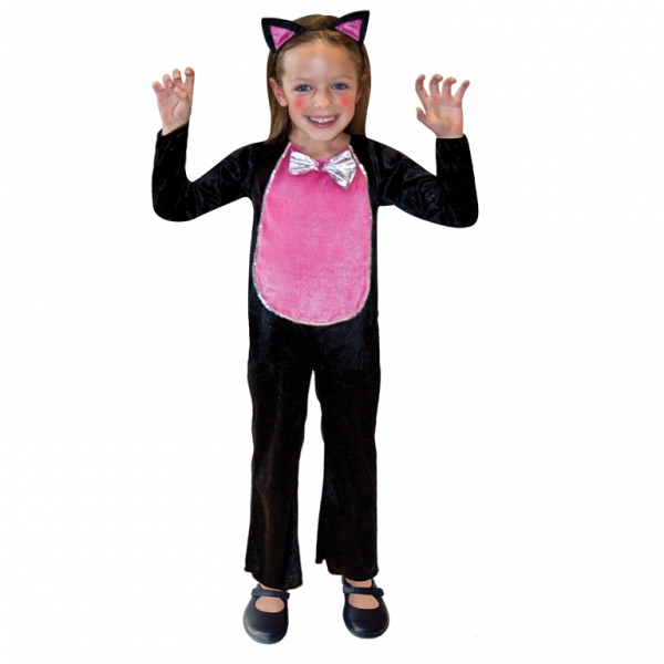 Cute Cat Girls Halloween Costume Kitten Suit Animal Kids