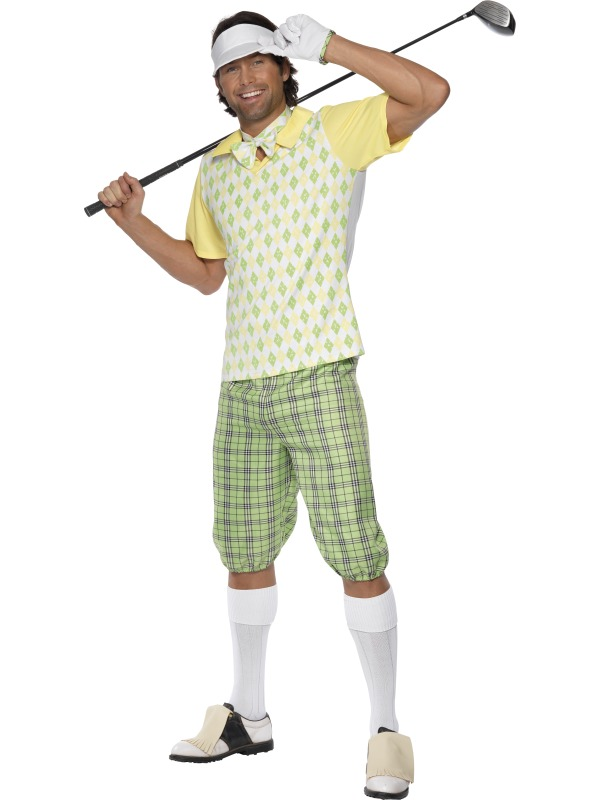 Golfing Golfer Sports Costume Mens Ladies Pub Golf Uniform Adults Fancy Dress | eBay
