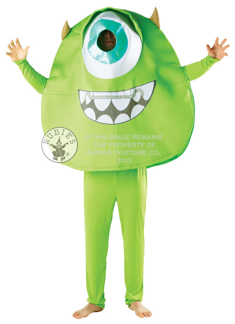 Mike Monsters Inc Costume Unisex University Movie Adults Halloween Fancy Dress