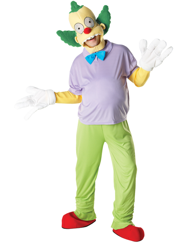 Krusty the clown mens fancy dress tv cartoon character 80s the simpsons costume ebay - Simpson le clown ...