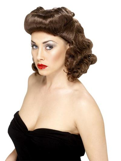 Brown Pin Up Girl Wig