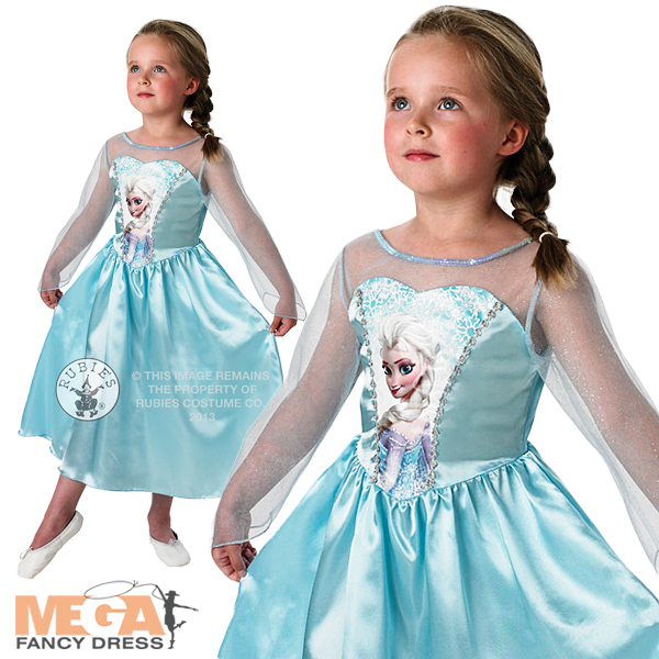 Elsa-Disney-Frozen-Snow-Queen-Girls-Fancy-Dress-Fairytale-Kids-Child-Costume-3-8