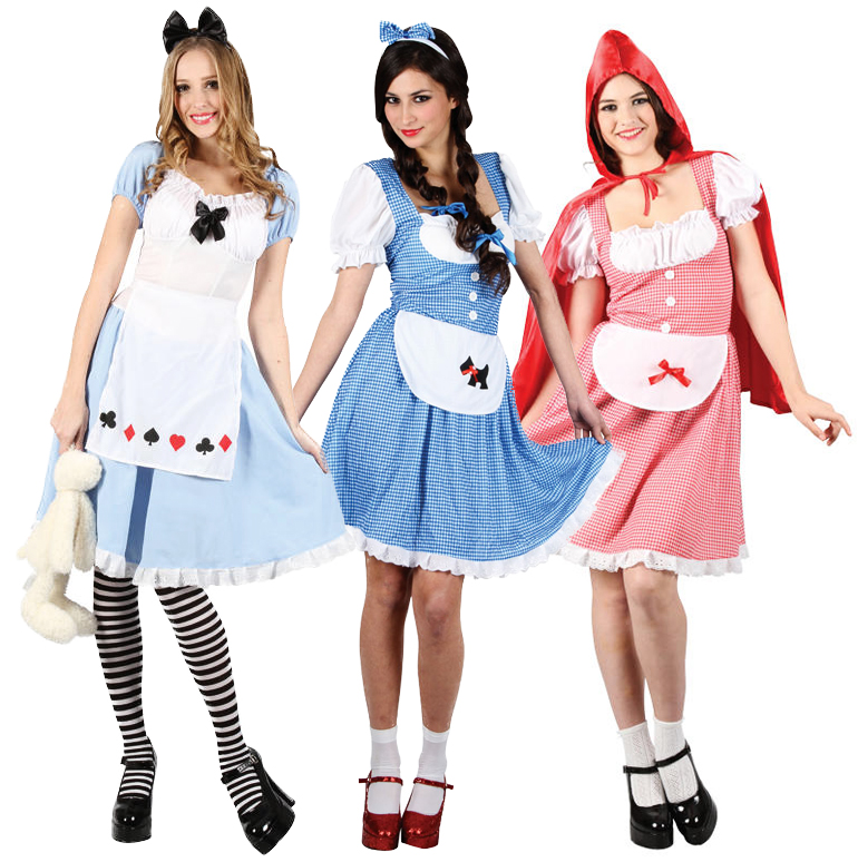 Fairytale-Ladies-Costume-Tights-Book-Week-Character-Womens-Fancy-Dress-Outfit