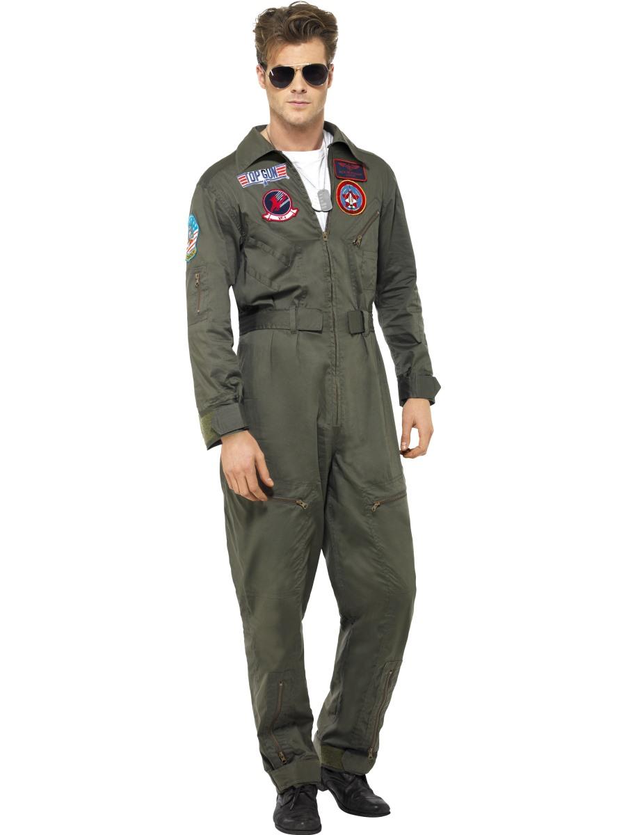 Top Gun Aviator Glasses Mens Fancy Dress Military 1980s ...