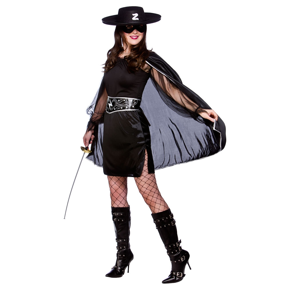 -Ladies-Fancy-Dress-Mask-of-Zorro-Mexican-Womens-Halloween-CostumeZorro Costume For Women