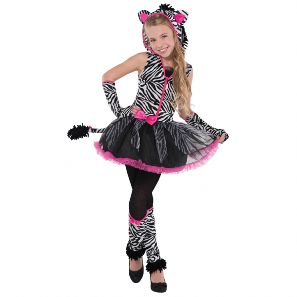 ... Zebra Girls Fancy Dress Animal Halloween Childrens Kids Costume  eBay