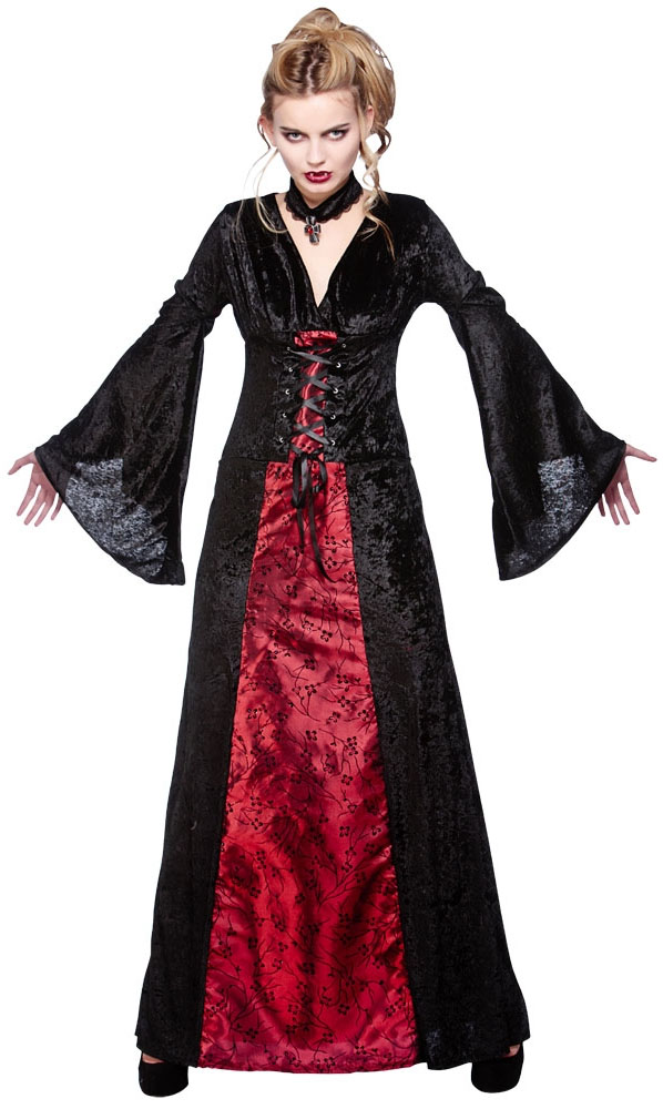 Women's Costumes; Women's Vampire Dresses; Skip to page navigation. Filter (2) Women's Vampire Dresses. Shop by Brand. Rosalie Vampire Ladies Fancy Dress New. Ladies Victorian vampiress costume Includes dress, collar and mini hat Perfect for Halloween themed fancy dress party Colour: Multicoloured Size: XL.