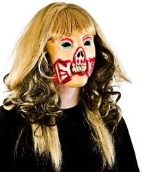 View Item Zombie Girl Mask with Hair