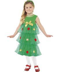 View Item Girls Little Christmas Tree Fancy Dress Costume