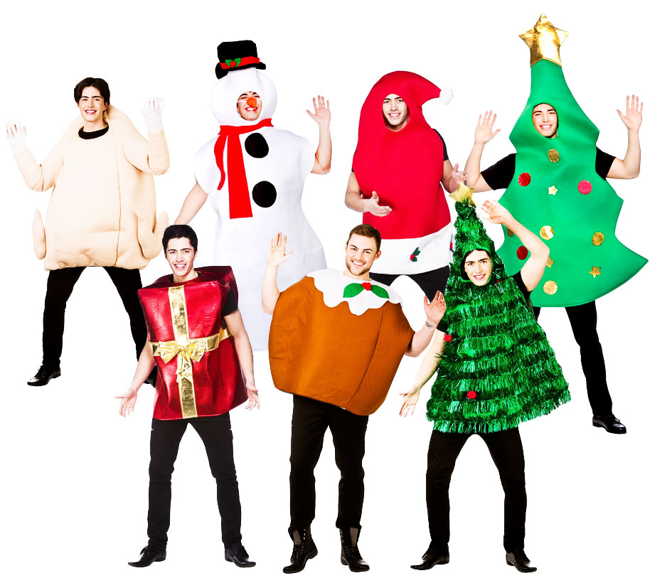 Christmas adult fancy dress xmas festive jolly season mens