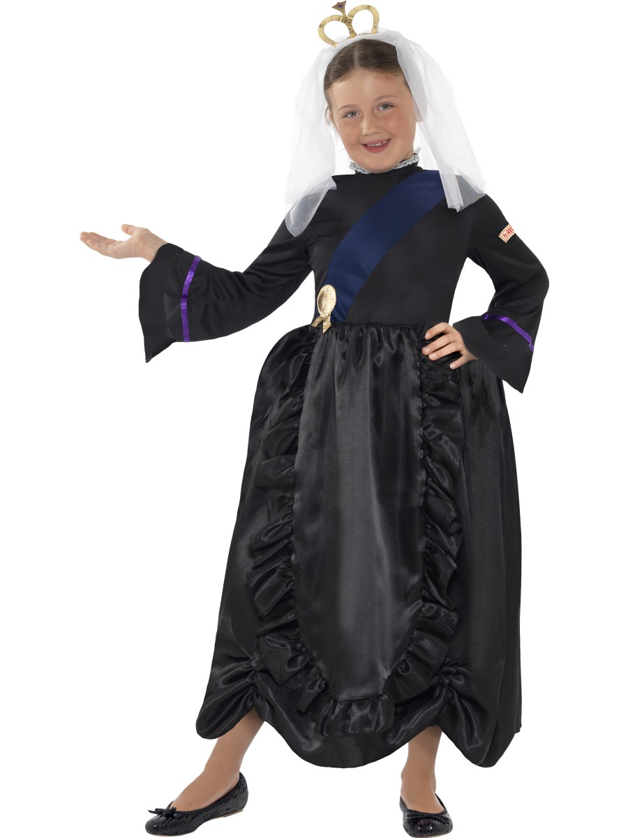 Queen Victoria Dress Girls Fancy Dress World Book Day Childs Costume Outfit New | eBay