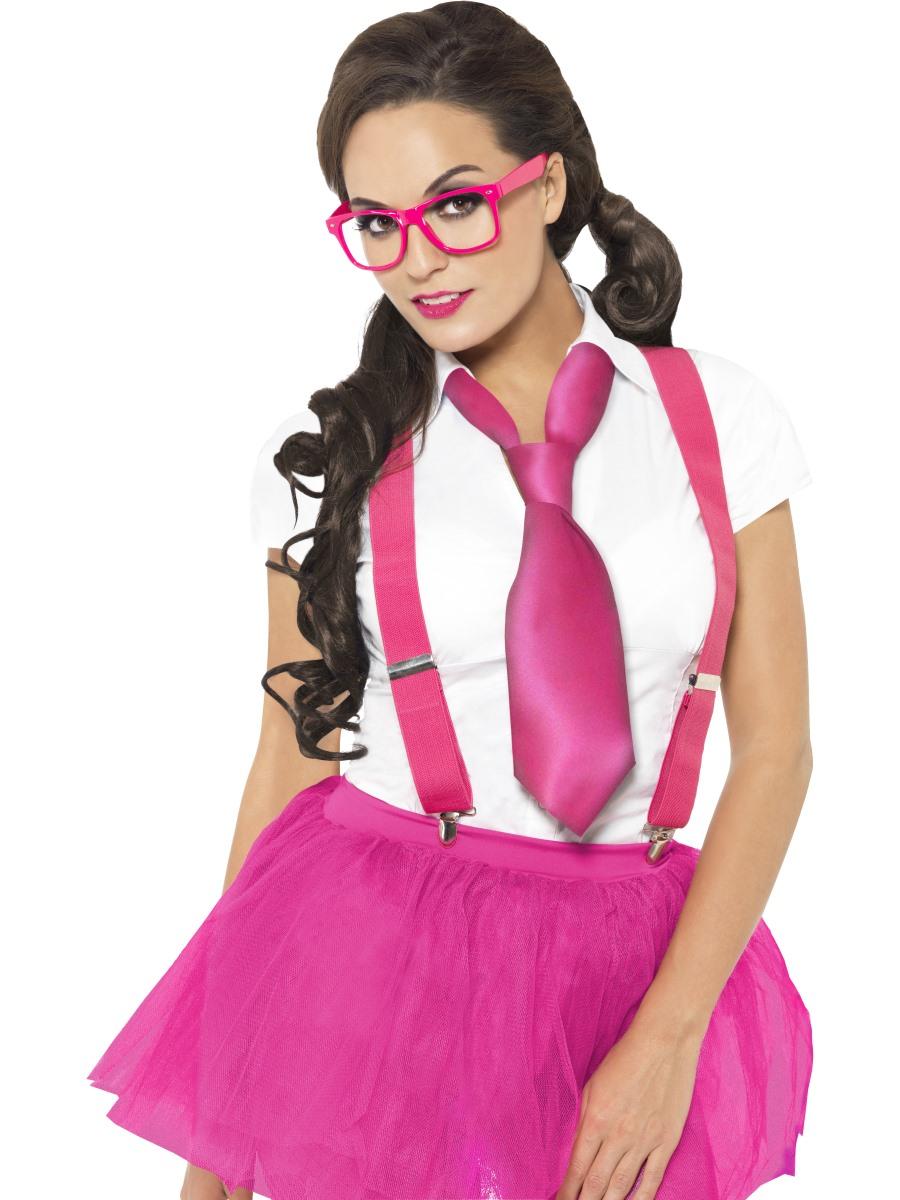 Pink Glam Geek Nerd Set Ladies