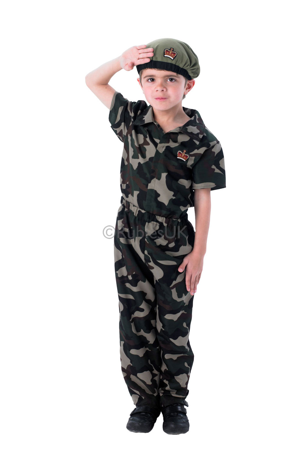 army soldier beret boys fancy dress military camo kids. Black Bedroom Furniture Sets. Home Design Ideas