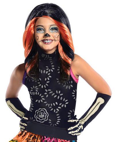 Girls Skelita Calvaeras Monster High Wig