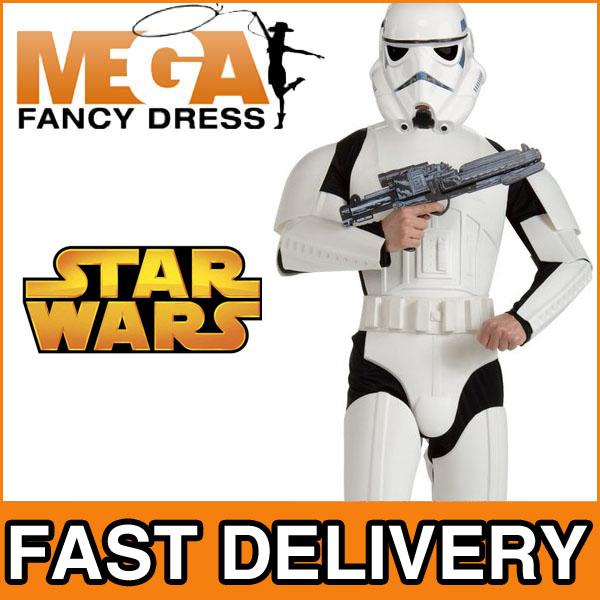 faschingskost m herren deluxe stormtrooper star wars verkleidung helm neu ebay. Black Bedroom Furniture Sets. Home Design Ideas
