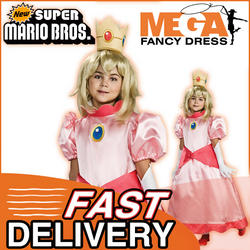 View Item Girl's Super Mario Princess Peach Costume