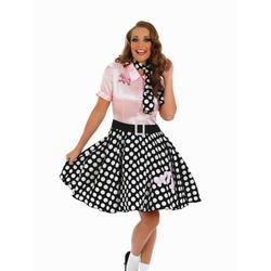 Ladies 1950s Rock N Roll Fancy Dress Costume