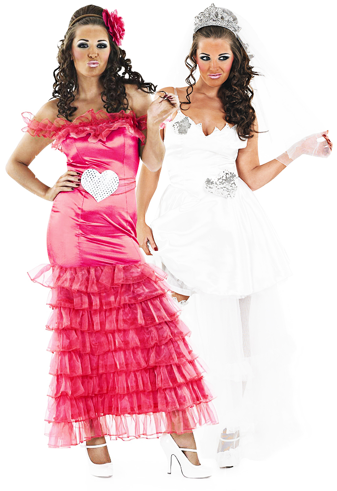 Gypsy Wedding Las Fancy Dress Fat Hen Party Womens Costumes Outfits