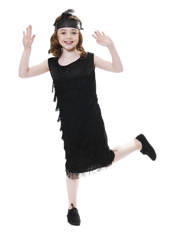 9 12 month black dress 1920s